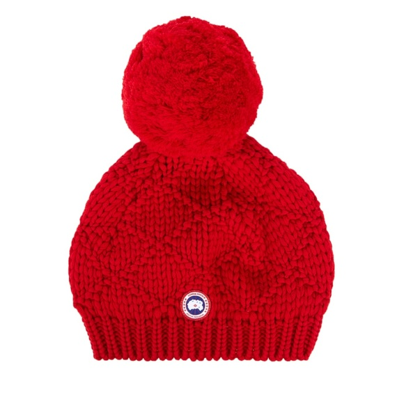 887a87639 Canada Goose Oversized Wool Pompom Beanie Hat